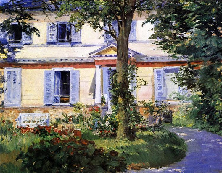 The House at Rueil, 1882 - Edouard Manet