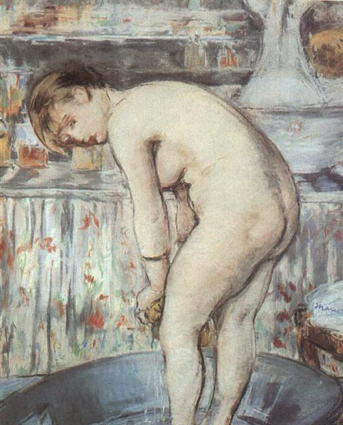 Woman in a tub, c.1878 - Edouard Manet