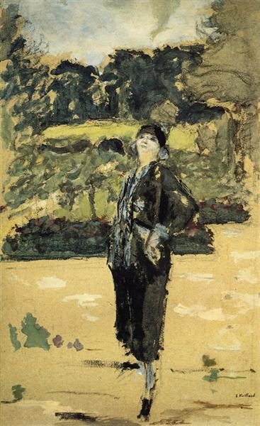 Black Dress, 1920 - Edouard Vuillard