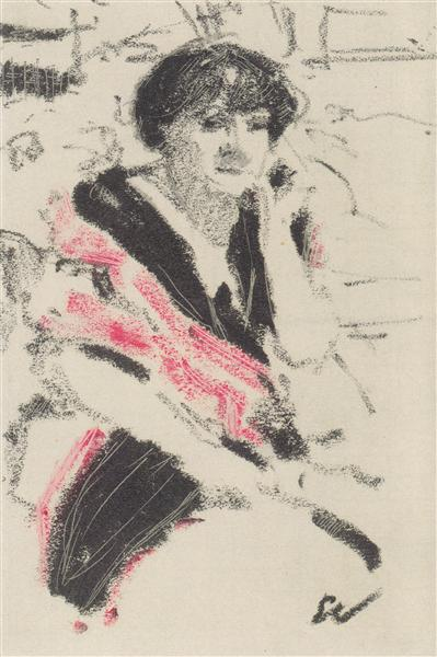 Half-figure of a seated woman, c.1911 - Edouard Vuillard