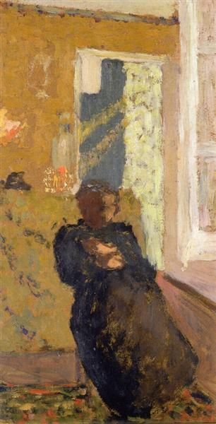Seated Woman Dressed in Black, 1893 - Edouard Vuillard