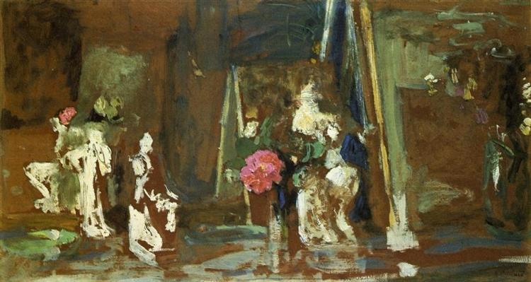 Statuettes on the Mantlepiece, 1909 - Edouard Vuillard