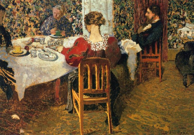 The End of Breakfast at Madam Vuillard, 1895 - Édouard Vuillard