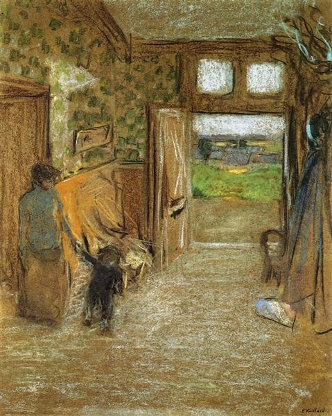 The Vestibule at Saint Jacut de la mer, 1909 - Edouard Vuillard