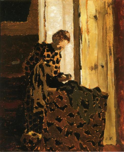 Woman Brushing a Garment, 1891 - 1892 - Edouard Vuillard