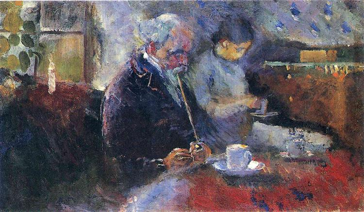 At the Coffee Table, 1883 - Edvard Munch