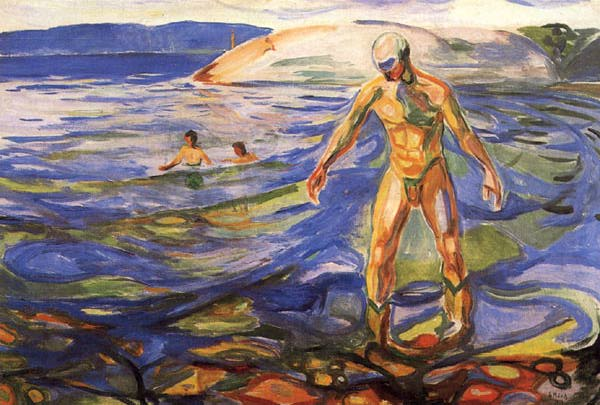 Bathing Man, 1918 - Edvard Munch