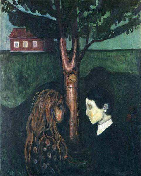 Eye in Eye, 1894 - Edvard Munch