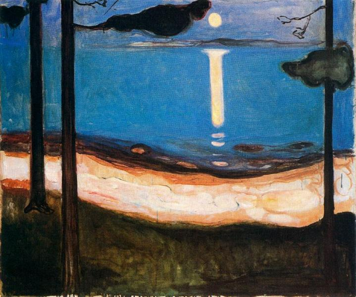 Moon Light, 1895 - Edvard Munch