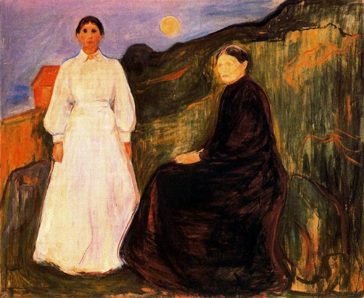 Mother and Daughter, 1897 - Edvard Munch