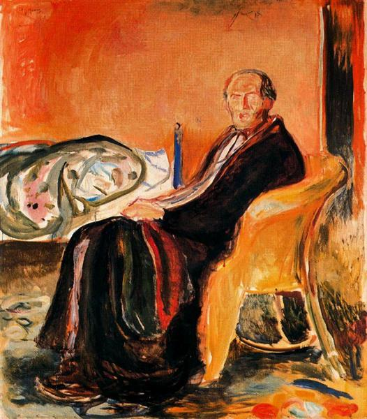 Self-Portrait after Spanish Influenza, 1919 - Edvard Munch