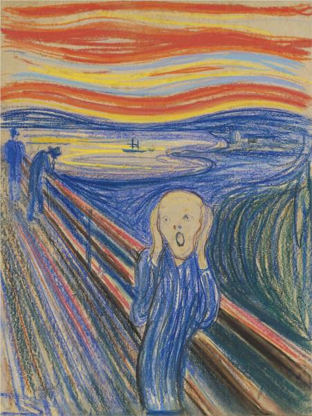 The Scream, 1895 - Edvard Munch - WikiArt.org