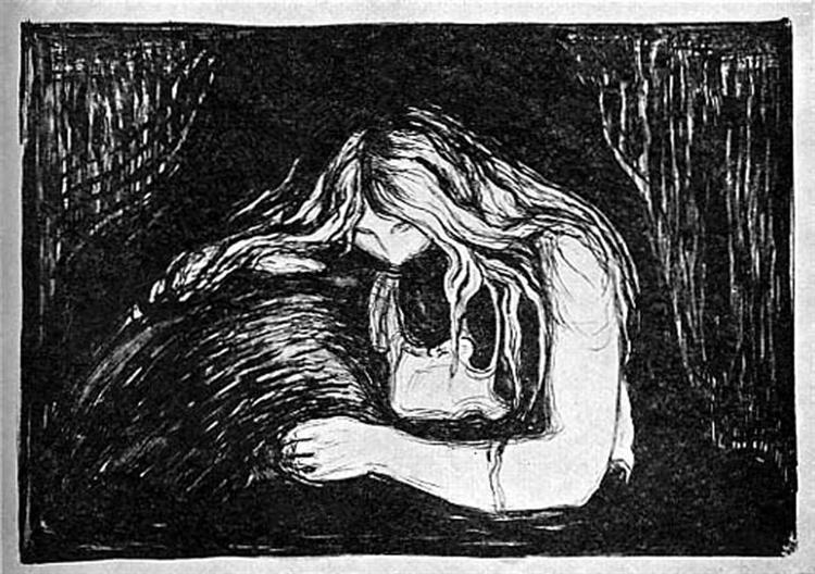Vampire II, 1895-1902 - Edvard Munch