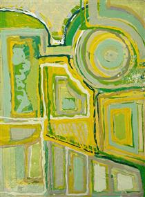 Untitled [yellow and green] - Edward Avedisian