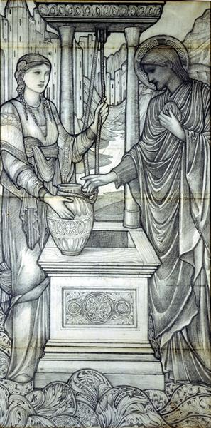 Jesus and Woman at the Well - Edward Burne-Jones