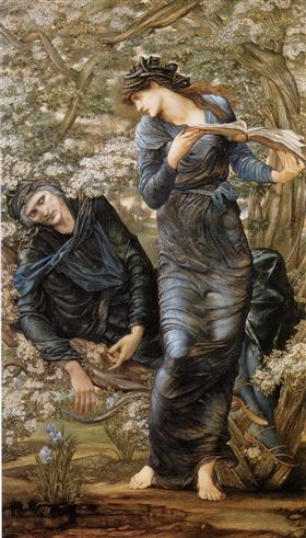 The Beguiling of Merlin (Merlin and Vivien) - Edward Burne-Jones