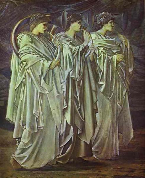 The Challenge in the Wilderness, c.1874 - 1898 - Edward Burne-Jones
