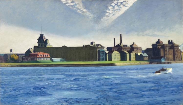 Blackwell's Island, 1928 - Edward Hopper