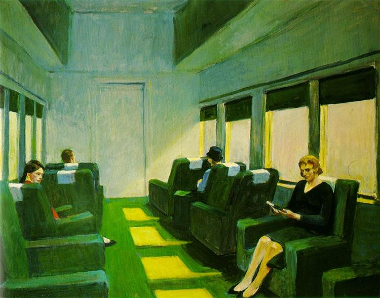 Chair Car, 1965 - Edward Hopper