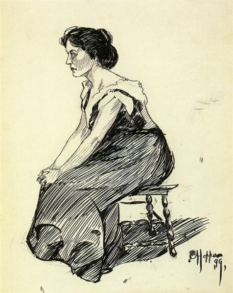 Study of a Seated Woman, 1899 - Edward Hopper