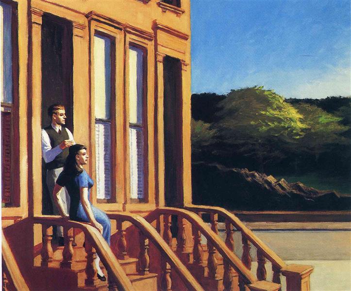 Sunlight on Brownstones, 1956 - Edward Hopper