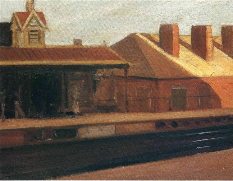 The El Station, 1908 - Edward Hopper