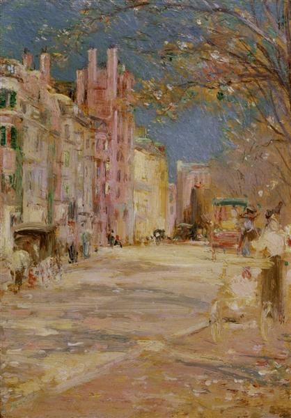 Boston Street Scene (Boston Common) - Edward Mitchell Bannister