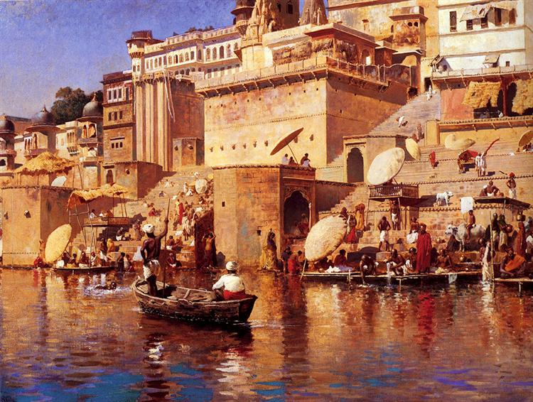 On The River Benares, c.1883 - Edwin Lord Weeks
