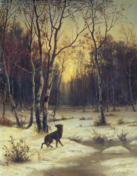 Winter Landscape - Efim Volkov