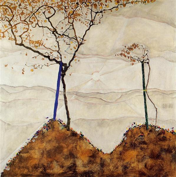 Autumn Sun, 1912 - Egon Schiele