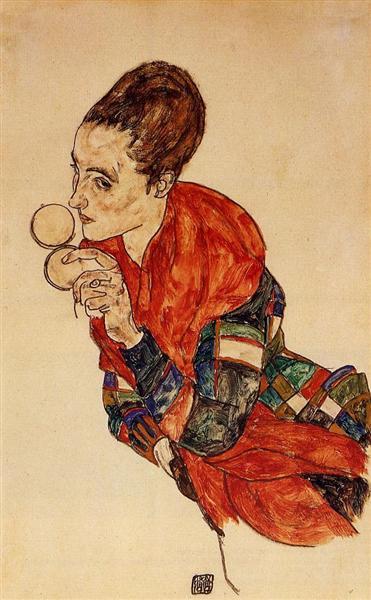 Portrait of the Actress Marga Boerner, 1917 - Эгон Шиле