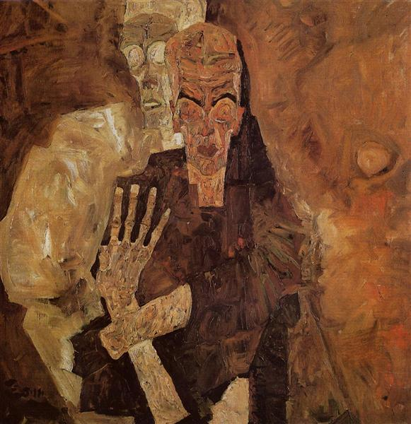 The Self Seers (Death and Man), 1911 - Egon Schiele