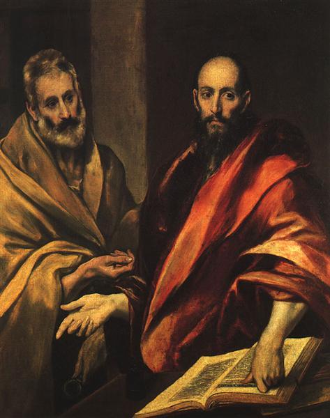 Apostles Peter and Paul, 1592 - El Greco