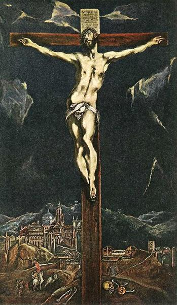 Christ in Agony on the Cross, c.1605 - El Greco