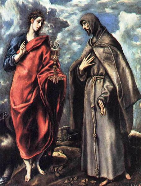 St. John the Evangelist and St. Francis, c.1608 - El Greco