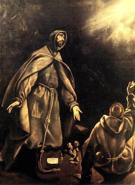 Stigmatisation of St. Francis, c.1600 - El Greco