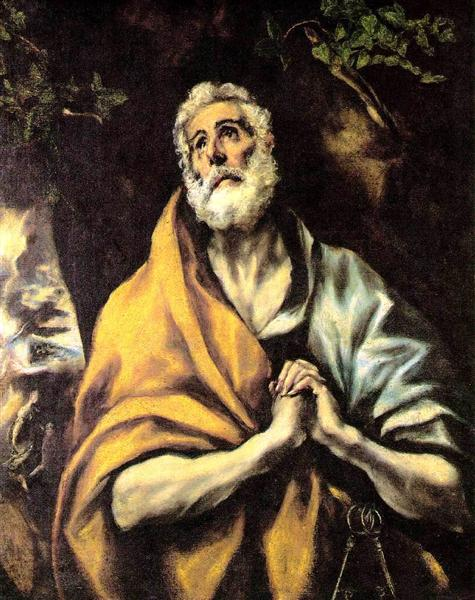 The Repentant Peter, c.1600 - El Greco