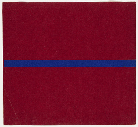 Blue and Red from the series Line Form Color, 1951 - Ellsworth Kelly