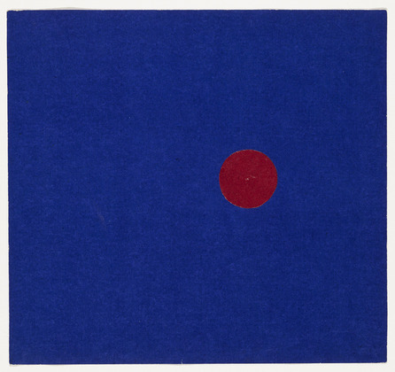 Red and Blue from the series Line Form Color, 1951 - Ellsworth Kelly