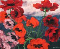 Large Poppies - Emil Nolde