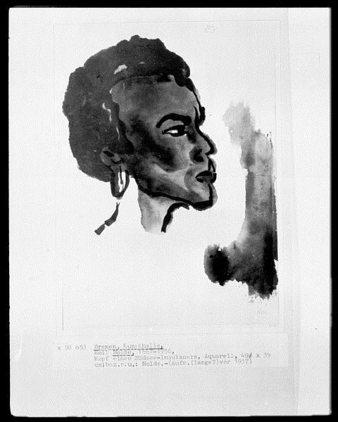 Portrait of South Sea Islander, 1937 - Emil Nolde
