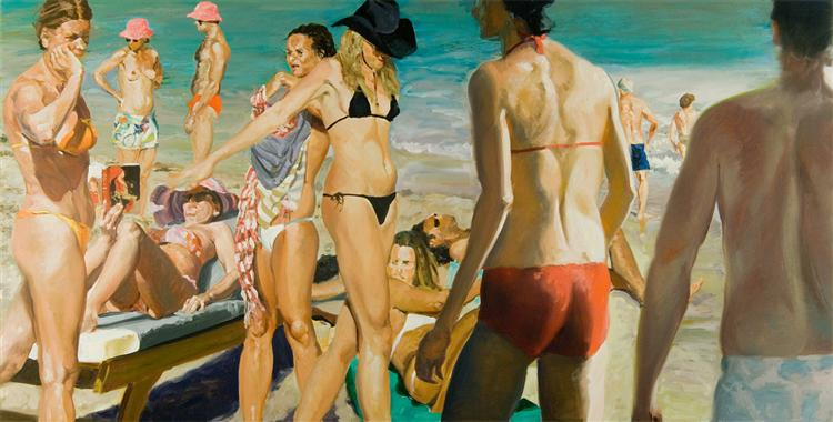 Beach Scene with Pink Hat, 2006 - Eric Fischl