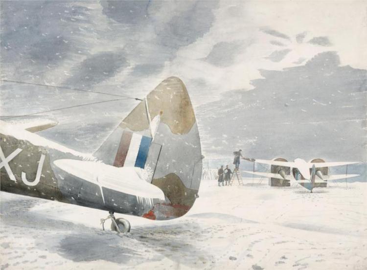De-icing Aircraft, 1942 - Eric Ravilious
