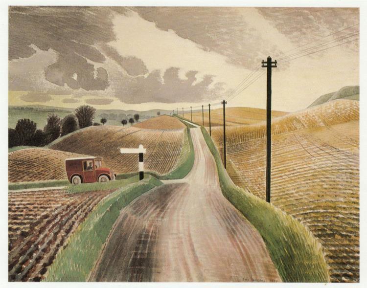 Wiltshire Landscape, c.1938 - Eric Ravilious