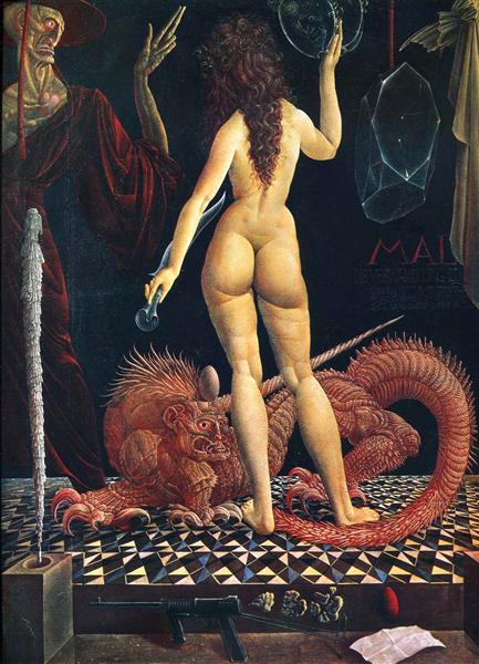 Metamorphoses of Lucretia, c.1958 - Ernst Fuchs