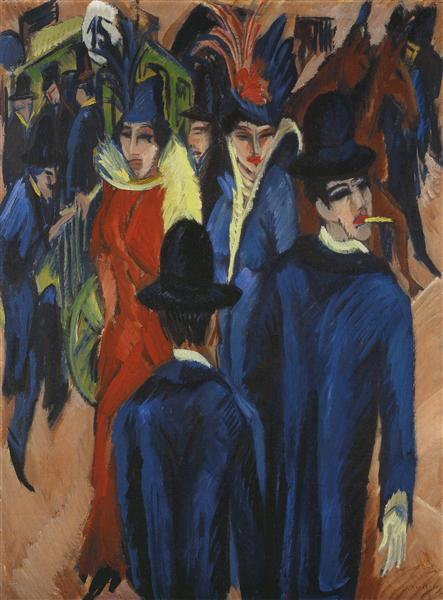 Pintura de uma Rua em Berlin, 1913 - 1914 - Ernst Ludwig Kirchner