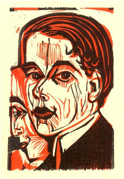 Man's Head. Self-portrait, 1926 - Ernst Ludwig Kirchner