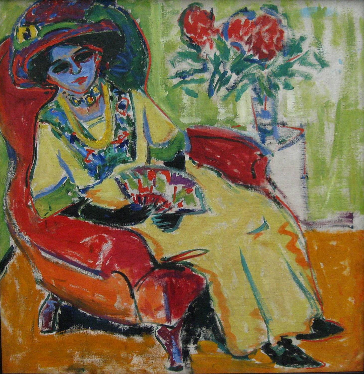 seated lady dodo ernst ludwig kirchner. Black Bedroom Furniture Sets. Home Design Ideas