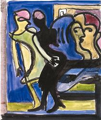 View into a Cafe - Ernst Ludwig Kirchner