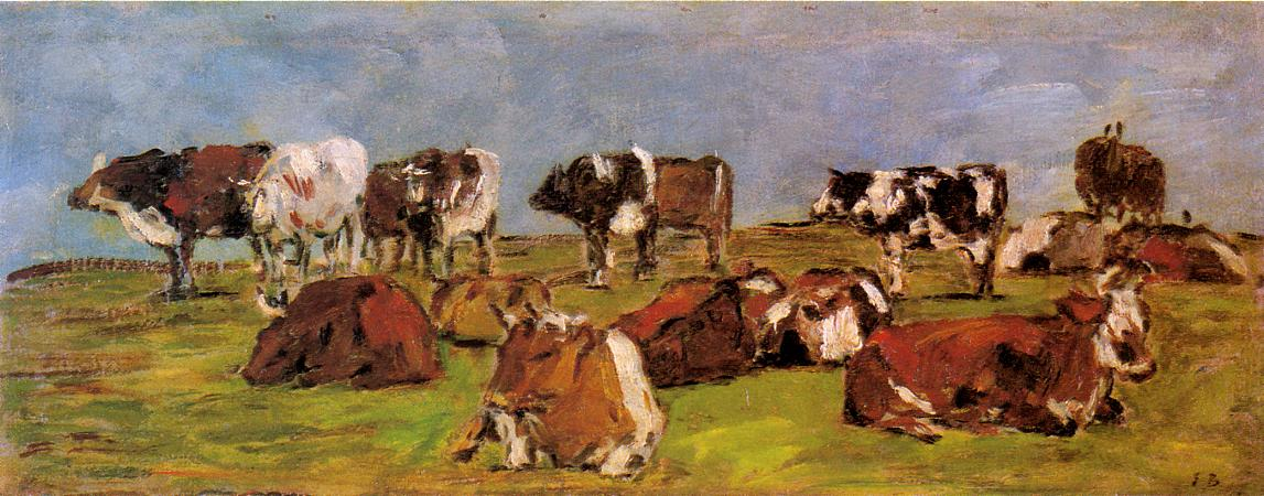 Cows in a Field, 1883
